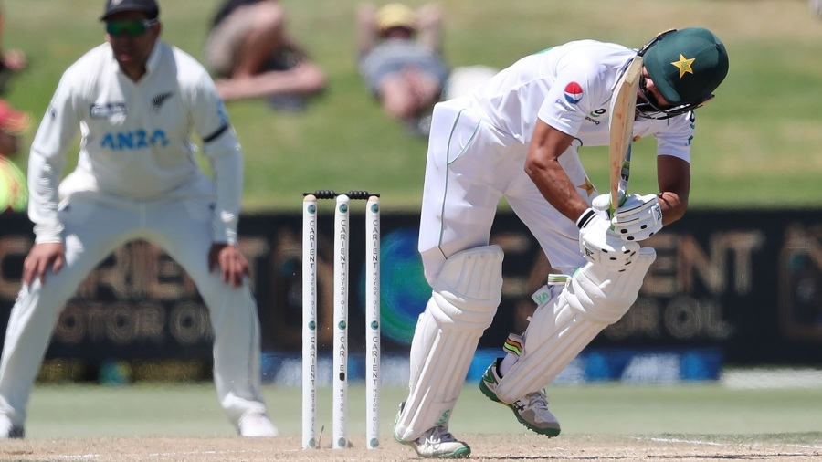 Fawad Alam works one off his pads