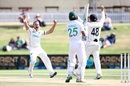 Neil Wagner, broken toe and all, produced the key breakthrough to dismiss centurion Fawad Alam, New Zealand vs Pakistan, 1st Test, Mount Maunganui, Day 5, December 30 2020