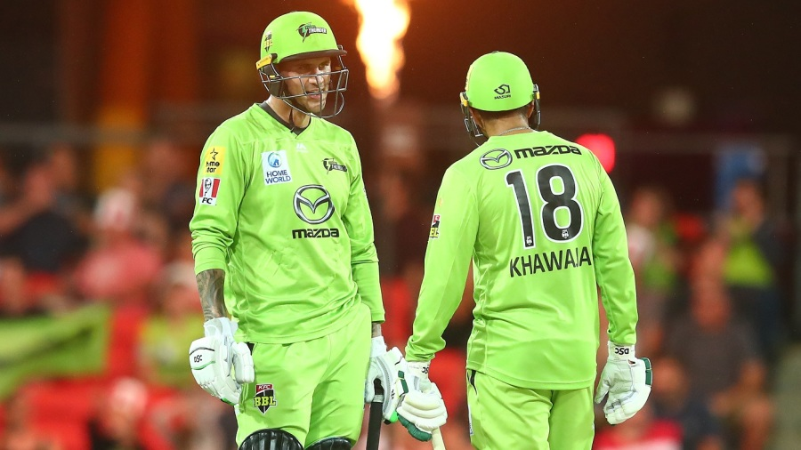 Alex Hales and Usman Khawaja's attacking knocks secured a win for the Sydney Thunder