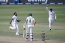 Asitha Fernando celebrates after making Aiden Markram his first Test victim, South Africa vs Sri Lanka, 2nd Test, 1st day, Johannesburg, January 3, 2021