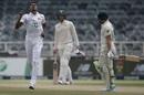 Dushmantha Chameera produced the breakthrough when he had Dean Elgar taken at slip, South Africa vs Sri Lanka, 2nd Test, 2nd day, Johannesburg, January 4, 2021