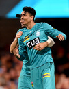 Mujeeb ur Rahman had a brilliant day in the field with two wickets, two catches, and a run-out, Brisbane Heat vs Sydney Thunder, Big Bash League, January 4, 2020