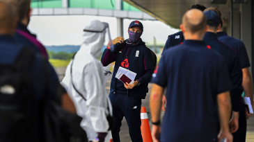 England were met by officials in hazmat suits on arrival in Sri Lanka