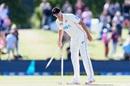 Kyle Jamieson plucks a stump after the match, New Zealand vs Pakistan, 2nd Test, Christchurch, 4th day, January 6, 2021