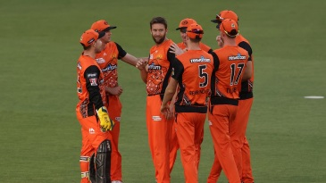 Andrew Tye was the destroyer-in-chief, with 4 for 20