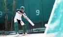 Soumya Sarkar cuts the ball during a nets session, Mirpur, January 6, 2021