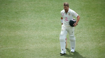 David Warner's stay at the crease on returning from injury was a short one
