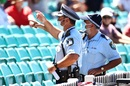 Security personnel in the stands at the Sydney Cricket Ground, Australia vs India, 3rd Test, Sydney, 4th day, January 10, 2021