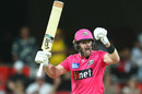 Dan Christian celebrates after hitting the winning runs, Sydney Sixers vs Brisbane Heat, Carrara, Big Bash League, January 10, 2021