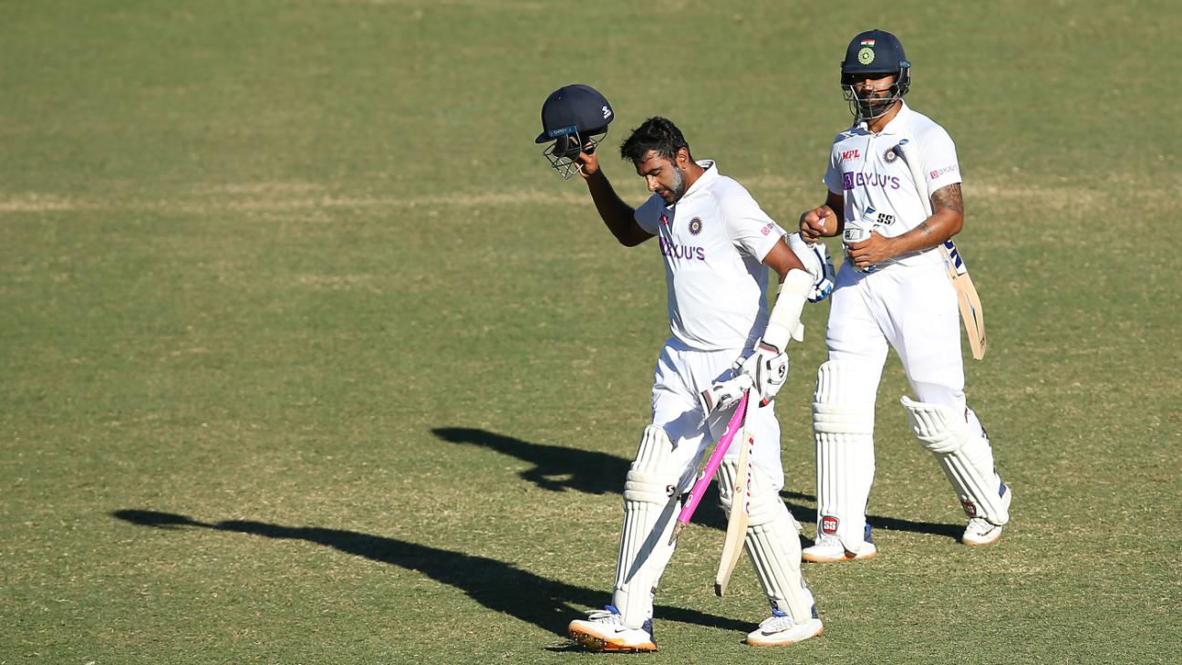 Job done: R Ashwin and Hanuma Vihari walk off