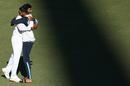 Jasprit Bumrah and Mohammed Siraj celebrate India's epic draw in Sydney, Australia vs India, 3rd Test, Sydney, 5th day, January 11, 2021