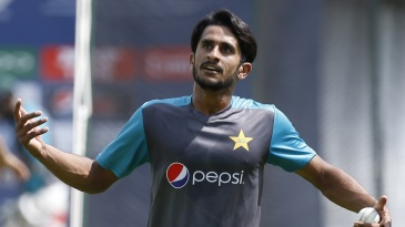Hasan Ali during a training session at The Oval