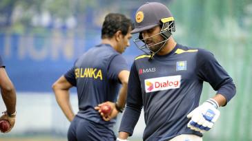 Dinesh Chandimal during a Sri Lanka nets session