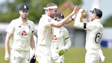Stuart Broad had a good day with the ball