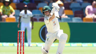 Steven Smith plays through the off side