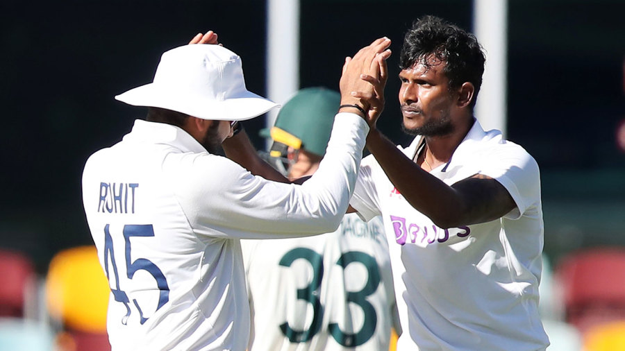 T Natarajan brought India back into the match