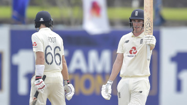 Dan Lawrence brought up his maiden Test fifty on debut