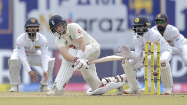 Joe Root's sweep was a regular feature in his hundred