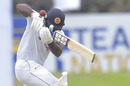 Kusal Perera took a nasty blow to the hand from Mark Wood, Sri Lanka v England, 1st Test, Galle, 3rd day, January 16, 2021
