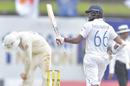 Lahiru Thirimanne celebrates reaching fifty, Sri Lanka v England, 1st Test, Galle, 3rd day, January 16, 2021