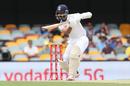 Ajinkya Rahane pushes through the off side, Australia vs India, 4th Test, Brisbane, 3rd day, January 17, 2021