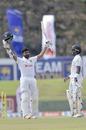Lahiru Thirimanne celebrates his second Test hundred, Sri Lanka v England, 1st Test, Galle, 4th day, January 17, 2021