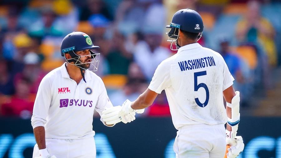 Shardul Thakur and Washington Sundar added 123 runs for the seventh wicket