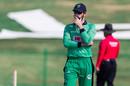 Andy Balbirnie ponders his options, UAE vs Ireland, Abu Dhabi, January 18, 2021