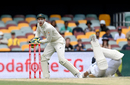 Cheteshwar Pujara scrambles for safety as Tim Paine collects a throw, Australia vs India, 4th Test, Brisbane, 5th day, January 19, 2021