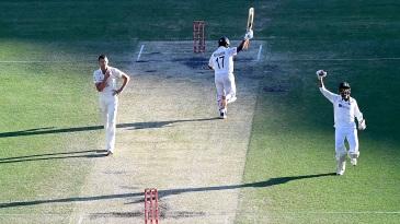 Rishabh Pant and Navdeep Saini celebrate as India chase down 328