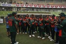 Hasan Mahmud receives his ODI cap from Tamim Iqbal, Bangladesh v West Indies, 1st ODI, Mirpur, January 20, 2021