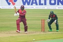 Kyle Mayers drives down the ground, Bangladesh v West Indies, 1st ODI, Mirpur, January 20, 2021