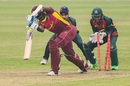 Alzarri Joseph's stumps are shattered by Shakib Al Hasan, Bangladesh vs West Indies, 1st ODI, Mirpur, January 20, 2021