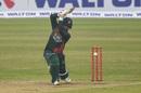 Tamim Iqbal unleashes a cover drive, Bangladesh v West Indies, 1st ODI, Mirpur, January 20, 2021
