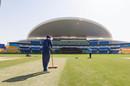 Groundstaff prepare the Abu Dhabi pitch, Sheikh Zayed Stadium, January 20, 2021