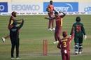 Akeal Hosein celebrates a wicket, Bangladesh vs West Indies, 2nd ODI, Dhaka, January 22, 2021