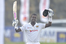 Angelo Mathews celebrates his century, Sri Lanka vs England, 2nd Test, Galle, 1st day, January 22, 2021