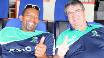 Phil Simmons and Roy Torrens are all smiles