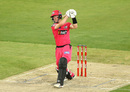Jordan Silk goes down the ground, Hobart Hurricanes vs Sydney Sixers, BBL 2020-21, Melbourne, January 24, 2021