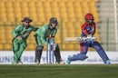 Hashmatullah Shahidi goes for the reverse sweep, Afghanistan vs Ireland, 2nd ODI, Abu Dhabi, January 24, 2021