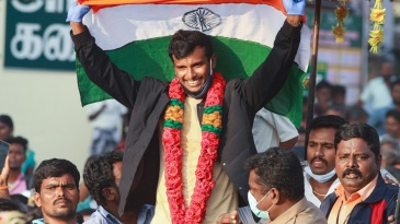 T Natarajan received a rousing reception at his hometown Chinnappampatti