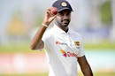 Lasith Embuldeniya walks off with the ball after claiming 7 for 137, Sri Lanka vs England, 2nd Test, Galle, 4th day, January 25, 2021