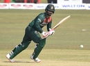 Tamim Iqbal taps one to the leg side, Bangladesh vs West Indies, 3rd ODI, Chattogram, January 25, 2020