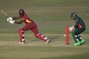 Nkrumah Bonner works one off his legs, Bangladesh vs West Indies, 3rd ODI, Chattogram, January 25, 2020