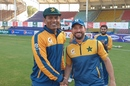 Nauman Ali receives his Test cap from Yasir Shah, Pakistan vs South Africa, 1st Test, Karachi, 1st day, January 26, 2021