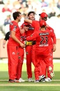 Zak Evans picked up five wickets as the Renegades ended their campaign with a win, Melbourne Renegades vs Hobart Hurricanes, BBL 2020-21, Melbourne, January 26, 2021