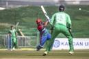 Asghar Afghan hits down the ground, Afghanistan vs Ireland, 3rd ODI, Abu Dhabi, January 26, 2021