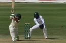 Dean Elgar drives one on the off side, Pakistan vs South Africa, 1st Test, Karachi, 1st day, January 26, 2021