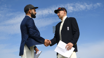Joe Root and Virat Kohli at the toss