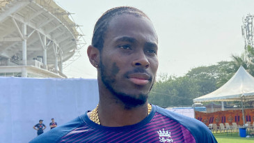 Jofra Archer during England's training session in Chennai